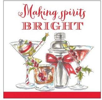 Sur La Table Spirits Bright Paper Cocktail Napkins