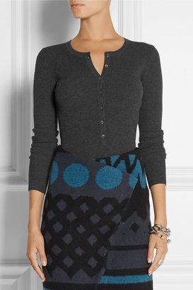 Michael Kors Waffle-knit Henley top
