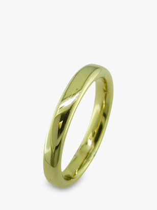 E.W Adams 18ct Yellow Gold 3mm Court Wedding Ring, Yellow Gold