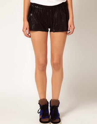 La Fee Verte Sequin Shorts