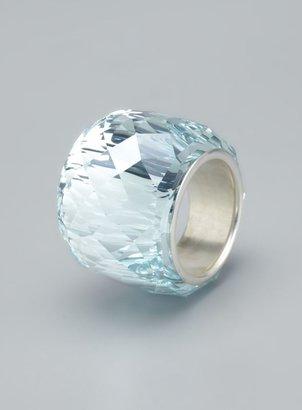 Swarovski Nirvana Crystal Faceted Ring, Size 4.5