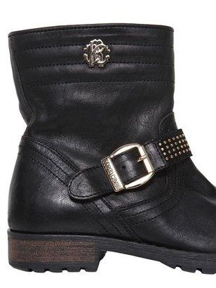 Roberto Cavalli Leather Biker Boots