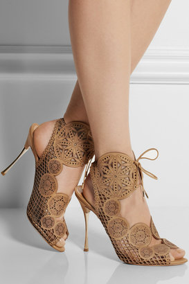Nicholas Kirkwood Laser-cut leather sandals