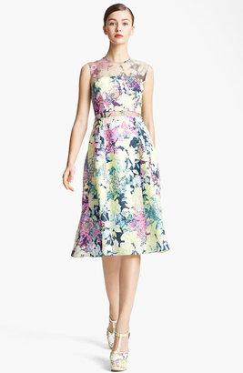 Erdem 'Imperial Rose' Print Silk Brocade Dress