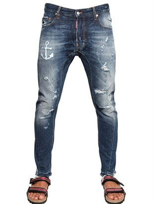 DSquared 17cm Tidy Anchor Cropped Denim Jeans