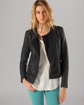 Maje Jacket - Austal Textured Leather