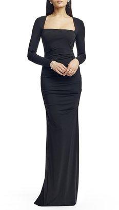 Nicole Miller Felicity Long Sleeve Jersey Gown