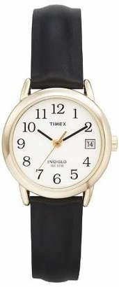 Timex Women's Timex Easy Reader® Watch with Leather Strap- Gold/Black T2H341JT $30.99 thestylecure.com