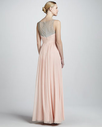 Aidan Mattox Beaded Gown with Sweetheart Neckline