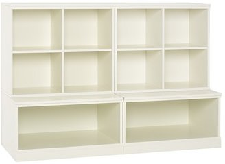 Pottery Barn Kids Cameron 2 Cubby & 2 Base, Simply White