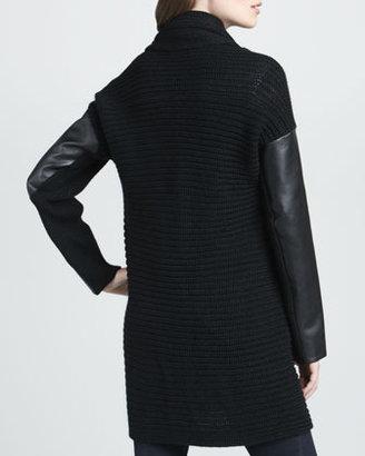 525 America Buckled Long Knit Cardigan