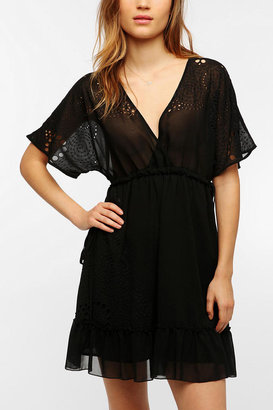 Hazel Flutter Sleeve Surplice Dress