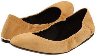 Burberry Graton Elasticized Edge Leather Ballerinas