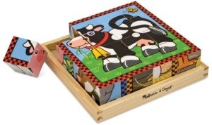 Melissa & Doug Kids Toy, Farm Cube Puzzle