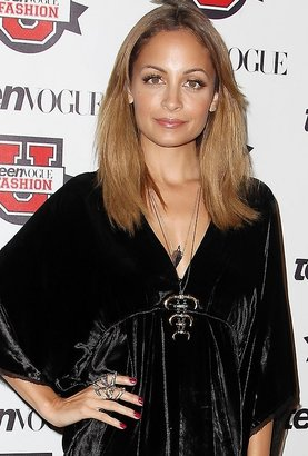 House Of Harlow Triple Horn and Metal Stone Pendant Necklace as Seen On Nicole Richie