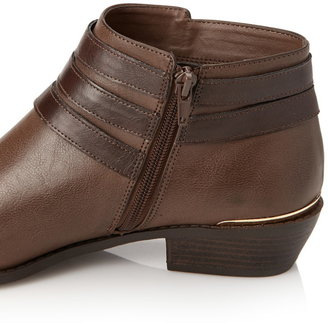 Forever 21 Buckled Faux Leather Booties