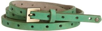 ADA Collection Women's Dot Skinny Leather Belt