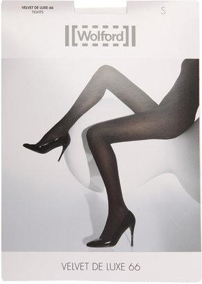 Wolford Black velvet deluxe tights