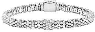Women's Lagos Caviar 'Signature Caviar' Diamond Rope Bracelet $495 thestylecure.com