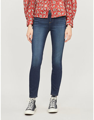 Paige Denim Women's Nottingham Blue Verdugo Ankle Ultra-Skinny Mid-Rise Jeans, Size: 23