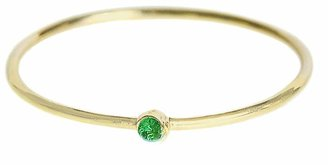 Jennifer Meyer Thin Emerald Stacking Ring