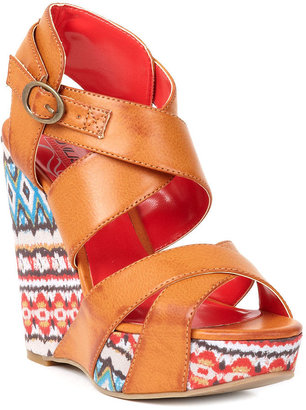 Unlisted Shoes, Bend The Rules Platform Wedge Sandals