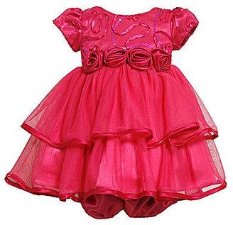 Bonnie Baby Newborn-24 Months Bonaz Two-Tier Dress & Panty Set