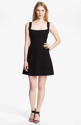 L'Agence Square Neck Seamed Dress