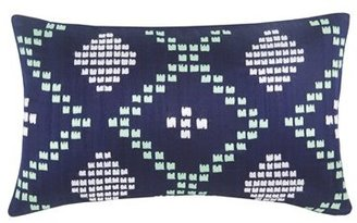 Blissliving Home 'Dillon' Embroidered Cotton & Silk Pillow
