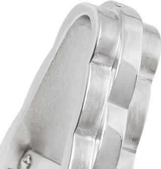Lanvin Rhodium-Plated Hinged Cufflinks