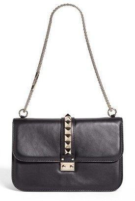 Valentino 'Lock - Medium' Leather Shoulder Bag
