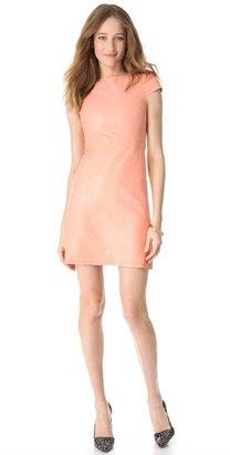 Alice + Olivia Leather A Line Dress