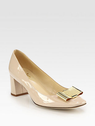 Kate Spade Dijon Patent Leather Bow Pumps