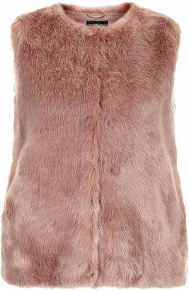 Topshop Boxy faux fur gilet