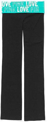 Victoria's Secret PINK Bling Foldover Bootcut Yoga Pant