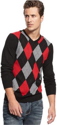 INC International Concepts Sweater, Argyle Sweater