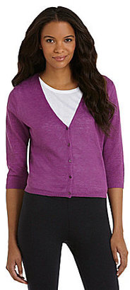 Eileen Fisher V-Neck Cropped Cardigan