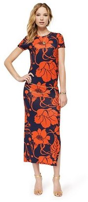 Juicy Couture Lily-Print Belted Maxi Dress