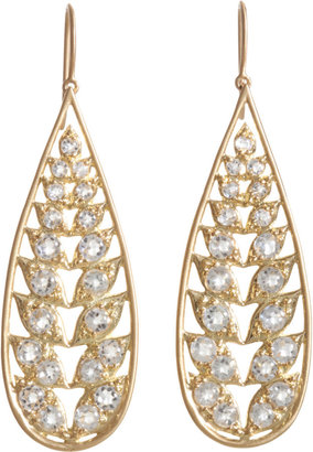 Jamie Wolf White Topaz Long Leaf Earrings