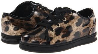 Dolce & Gabbana Patent Leo Laced City Sport (Toddler/Little Kid/Big Kid) (Tan) - Footwear