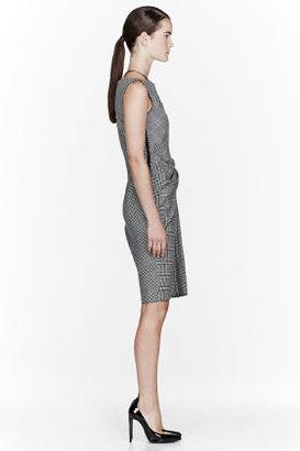 Lanvin Black & White glenplaid dress