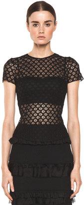 Nina Ricci Short Sleeve Top in Black