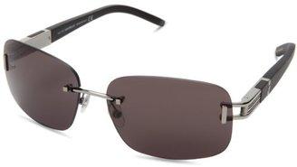 Montblanc Men's MB408S Square Metal Sunglasses