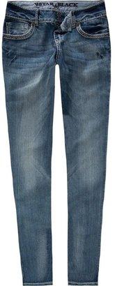 Vanilla Star Glitter Stitch Womens Skinny Jeans