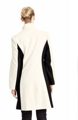 Sofia Cashmere Single-breasted Funnel Neck Wool Coat