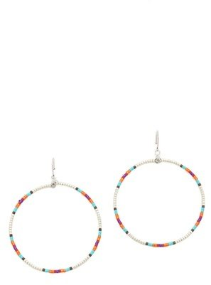 Chan Luu Beaded Hoop Earrings