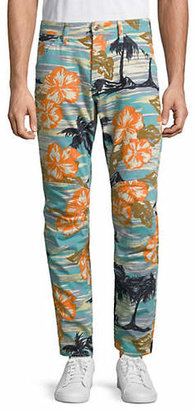 G Star Printed Tapered Jeans