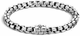 John Hardy Men's Silver Square Link Bracelet $495 thestylecure.com
