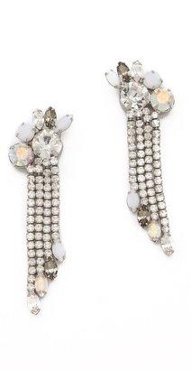 Juicy Couture Rhinestone Fringe Earrings