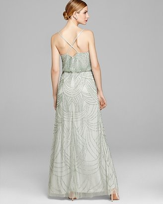 Adrianna Papell Gown - Blouson Beaded